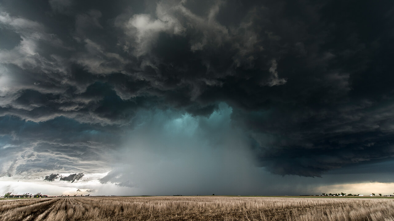 Impressive hail core of an intense HP supercell by storm chaser Maurizio Signani