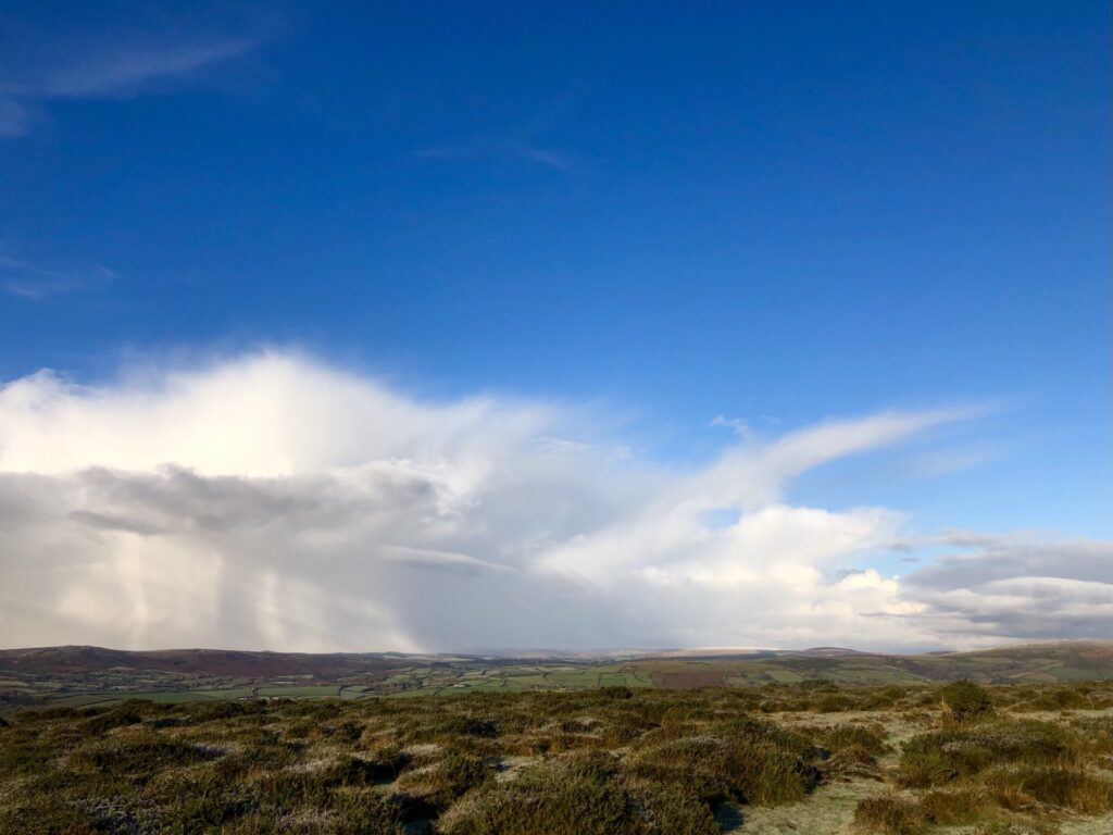 2nd Place Snow showers over Princetown, Dartmoor, Devon by Tracey's Photos of Devon @TraceysPhotos
