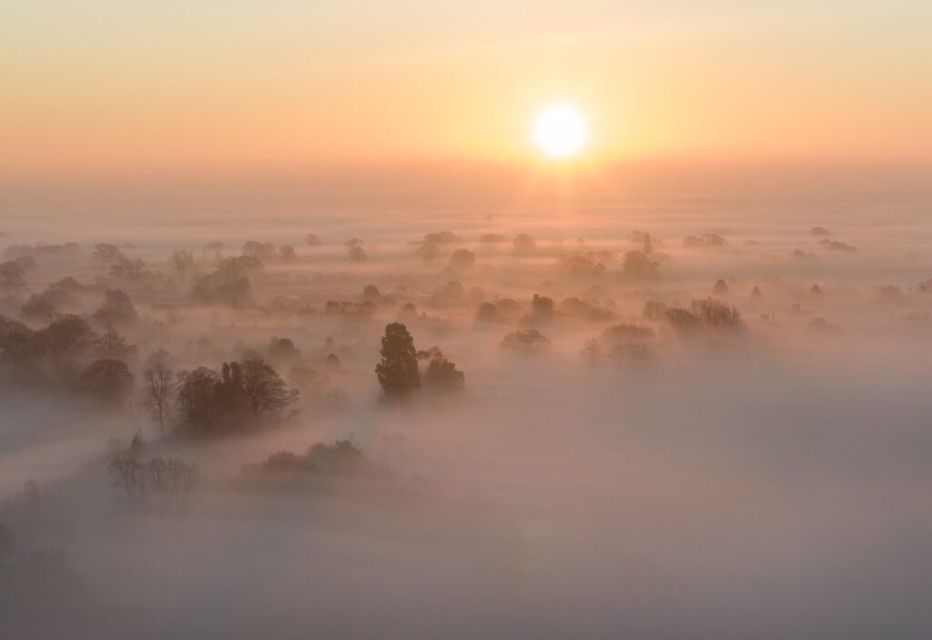 1st Place Over the fog of Oswestry by Carl Edwards @Carlsphotos1982