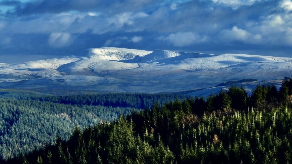 1st Place Snow capped Black mountains by Aled Hall @AledHall