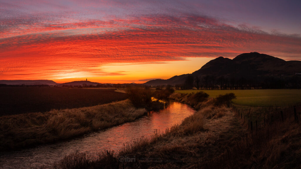 2nd Place Altocumulus sunset over Clackmannanshire near Sterling by Brian Smith @iBri_Photo
