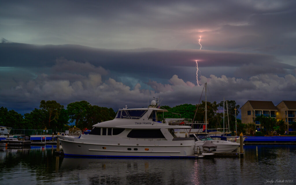 2nd Place Late afternoon summer storm over the northern Gold Coast by Judy Leitch @leitchbird