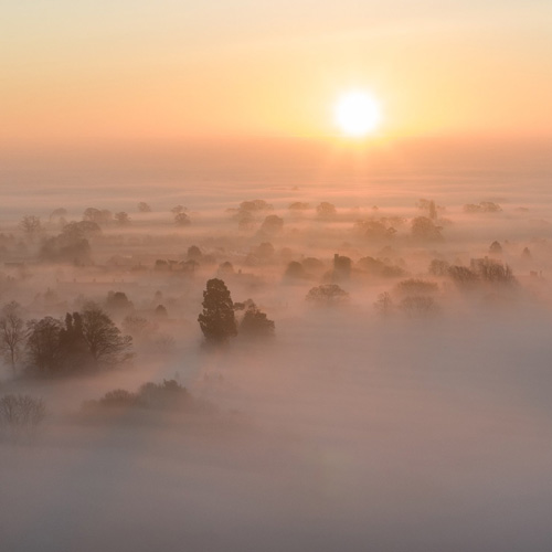 500x500px 1st Place Over the fog of Oswestry by Carl Edwards @Carlsphotos1982