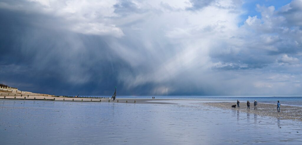 2nd Place Storm clouds and hail showers out to sea, off Selsey by Coastal JJ UK @CoastalJJuk