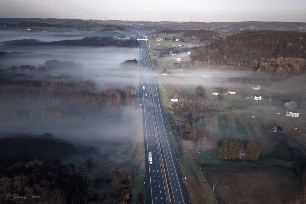 3rd Place Eye on the Road, PA USA by Joanna L Steidle @HamptonsDrone
