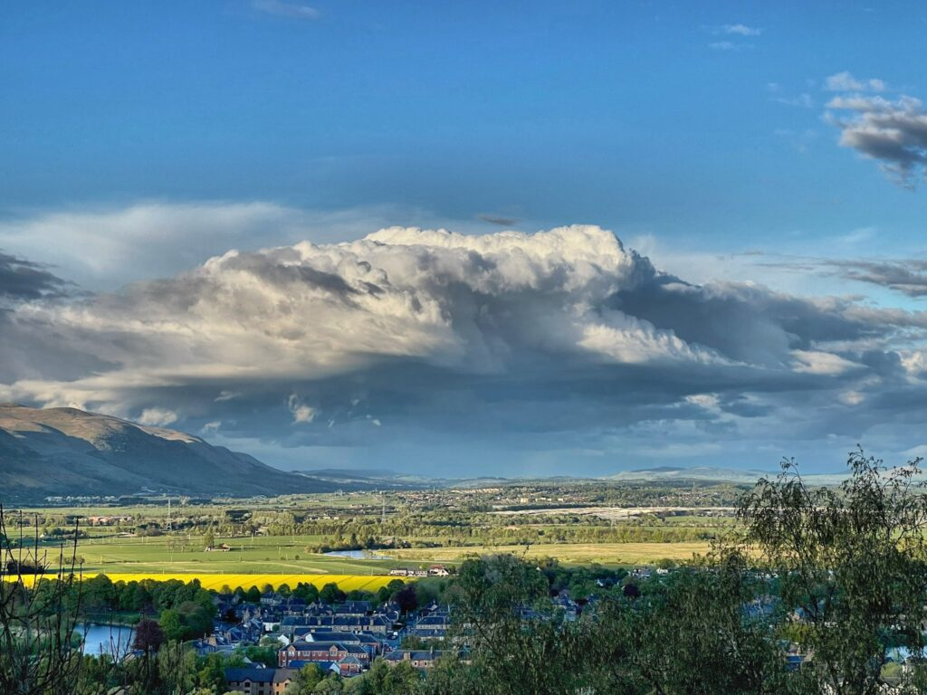 2nd Place The view from Stirling Castle Esplanade towards Dollar by Ian Barnes @Ian_Barnes